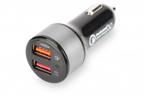 USB Car Charger Quick Charge 3.0 Dual Port